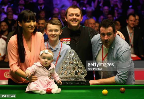 Mark Allen celebrates victory with his family following The Dafabet Master Final between Kyren Wilson and Mark Allen at Alexandra Palace on January...