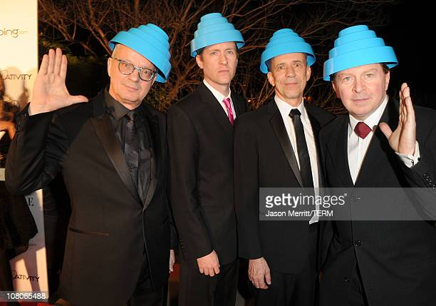 Mark Allen Mothersbaugh Josh Freese Bob Mothersbaugh and Gerald Casale of Devo arrive at the 2011 Art Of Elysium 'Heaven' Gala held at the California...