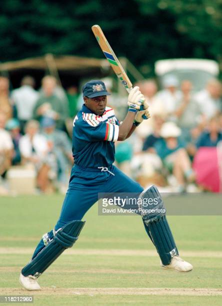 Mark Alleyne batting for Gloucestershire during their AXA Equity and Law Sunday League match against Middlesex at Bristol 11th July 1993 The match...