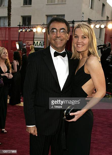 Mark Amin of Lion's Gate and Vezria during The 77th Annual Academy Awards Executive Arrivals at Kodak Theatre in Hollywood California United States