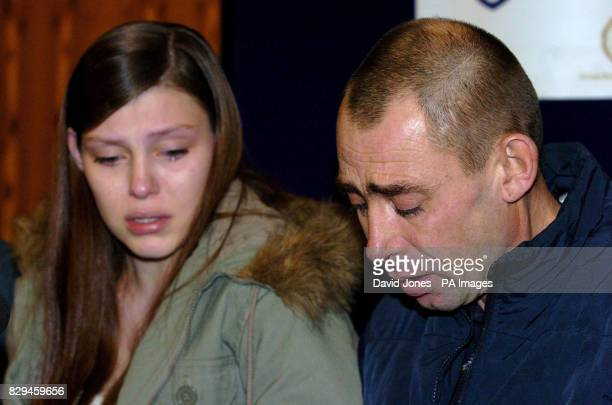 Mark and Katie Neal Williams aged 19 the father and sister of murdered 14 yr old Amy Williams during this morning's press conference as the family...