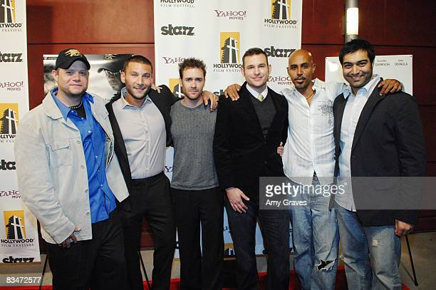 Mark Andrews Zach McGowan Jeremy Davis Kristoffer Garrison Ken Gamble and Amol Shah attend the screening of Seal Team VI at the Hollywood Film...