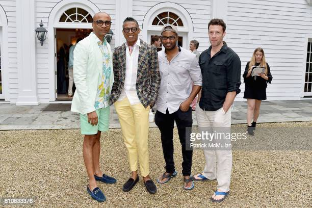 Mark Anthony B Michael Darold Cuba and Doug di Stefano attend Katrina and Don Peebles Host NY Mission Society Summer Cocktails at Private Residence...
