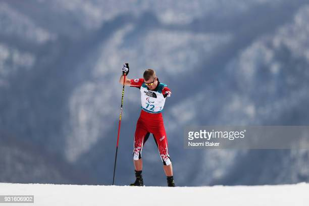 Mark Arendz of Canada competes during the Men's Biathlon 125km standing during day four of the PyeongChang 2018 Paralympic Games on March 13 2018 in...