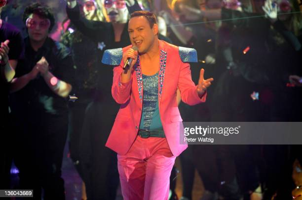 Mark Ashley during the Final of 'Das Supertalent' TV Show on December 17 2011 in Cologne Germany