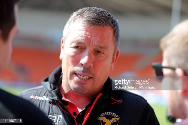 Mark Aston Head Coach of the Sheffield Eagles the Betfred Championship Summer Bash match at Bloomfield Road Blackpool