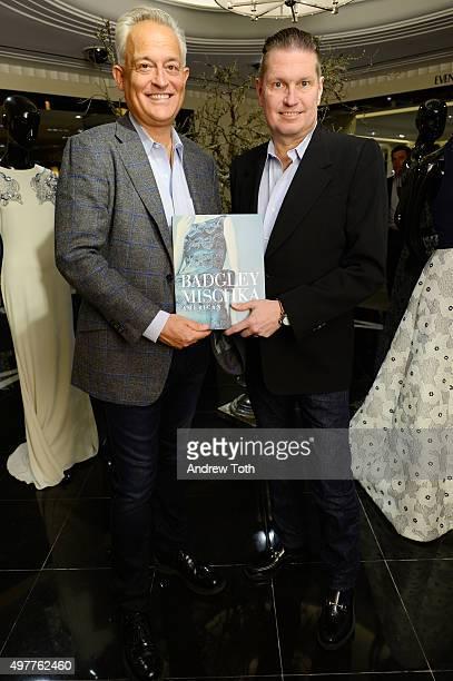 Mark Badgley and James Mischka attend Badgley Mischka American Glamour book celebration at Bergdorf Goodman on November 18 2015 in New York City