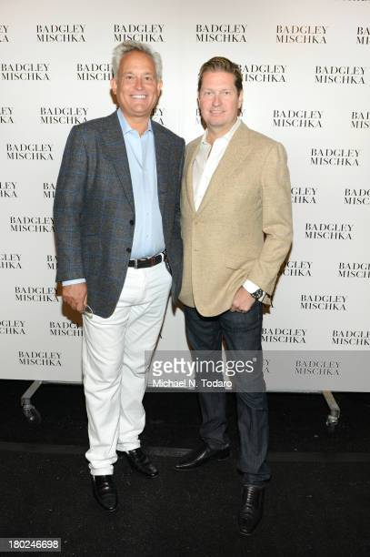 Mark Badgley and James Mischka attend the Badgley Mischka show during Spring 2014 MercedesBenz Fashion Week at The Theatre at Lincoln Center on...