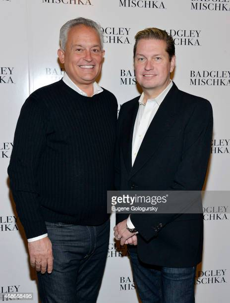 Mark Badgley and James Mischka attend the Badgley Mischka Show during MercedesBenz Fashion Week Fall 2014 at The Theatre at Lincoln Center on...