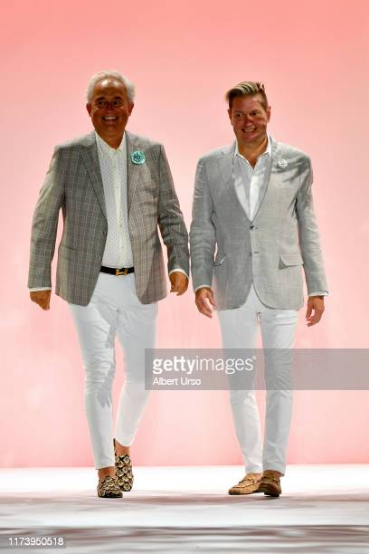Mark Badgley and James Mischka walk the runway for Badgley Mischka during New York Fashion Week The Shows at Gallery I at Spring Studios on September...