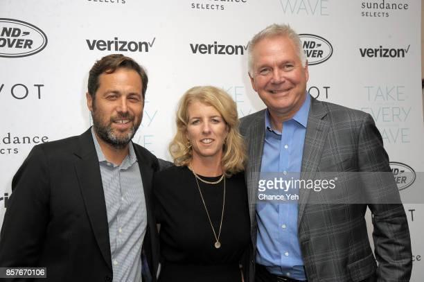 Mark Bailey Rory Kennedy and Carl Berstein attend 'Take Every Wave The Life Of Laird Hamilton' New York premiere at The Metrograph on October 4 2017...