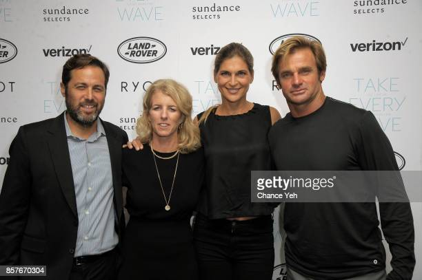 Mark Bailey Rory Kennedy Gabrielle Reece and Laird Hamilton attend 'Take Every Wave The Life Of Laird Hamilton' New York premiere at The Metrograph...