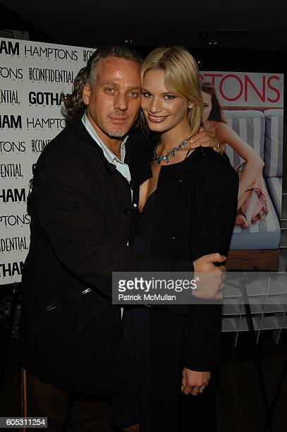 Mark Baker and Vicky Andren attend Hamptons Magazine celebrates Jim Belushi's debut book Real Men Don't Apologize at BED NYC on May 15 2006 in New...