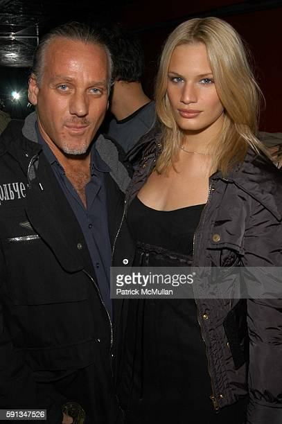 Mark Baker and Vicky Andren attend Rock Candy Grand Opening at Rock Candy on April 12 2005 in New York City