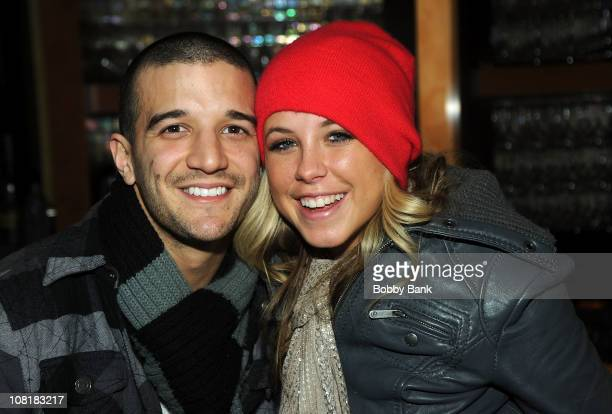 Mark Ballas and Chelsie Hightower visits Mohegan Sun at Pocono Downs on January 19 2011 in Wilkes Barre Pennsylvania