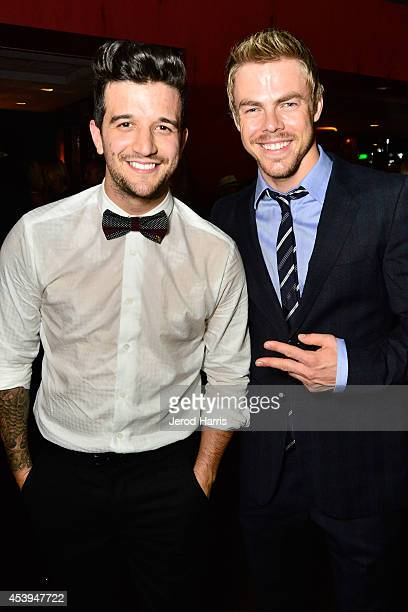 Mark Ballas and Derek Hough attend OK TV Awards Party at Sofitel Hotel on August 21 2014 in Los Angeles California