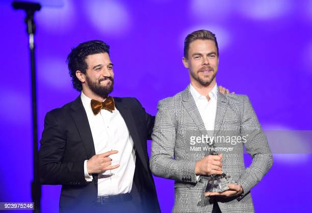 Mark Ballas and Derek Hough attend the 12th Annual Los Angeles Ballet Gala at the Beverly Wilshire Four Seasons Hotel on February 24 2018 in Beverly...
