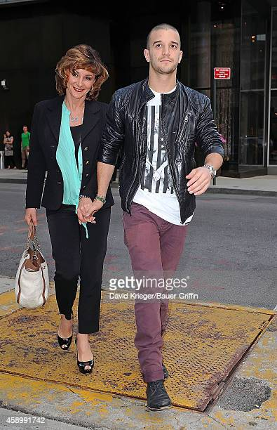 Mark Ballas and his mother Shirley Ballas are seen on May 23 2012 in New York City