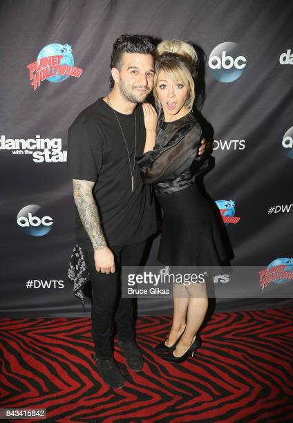 Mark Ballas and Lindsey Stirling pose at ABC's 'Dancing with the Stars' Season 5 cast announcement event at Planet Hollywood Times Square on...