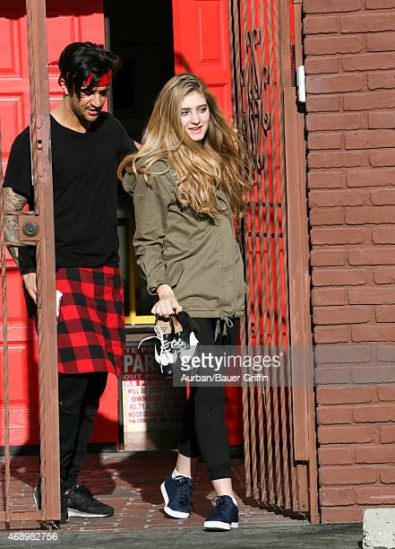 Mark Ballas and Willow Shields are seen in Hollywood on April 08 2015 in Los Angeles California