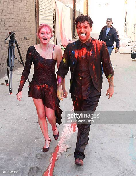 Mark Ballas and Willow Shields are seen in Hollywood on March 20 2015 in Los Angeles California