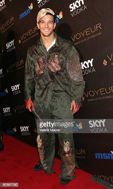 Mark Ballas arrives at the Heidi Klum's 10th Annual Halloween Party on October 31 2009 in Los Angeles California