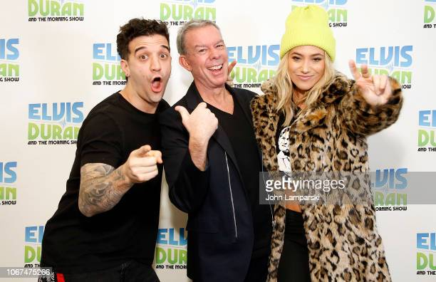 Mark Ballas Elvis Duran and Alexander Jean visit The Elvis Duran Z100 Morning Show at Z100 Studio on November 14 2018 in New York City