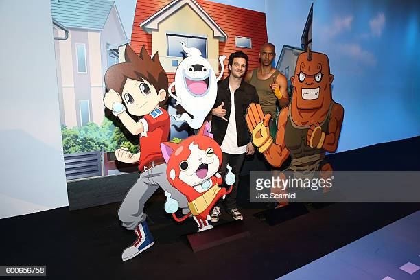 Mark Ballas of ABC's Dancing with the Stars and 'Dance It Out' founder Billy Blanks Jr attend the YOKAI WATCH 2 preview event at Siren Studios on...