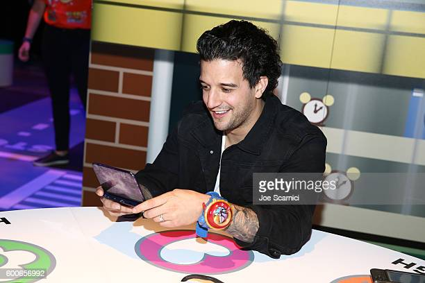 Mark Ballas of ABC's Dancing with the Stars checks out YoKai Watch 2 for Ninendo 3DS at the YOKAI WATCH 2 preview event at Siren Studios on September...