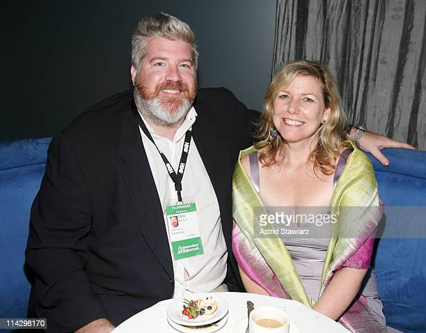 Mark Bamford and Susan Boehm attends Independent Film Week IFP's No Borders Dinner at 915 Broadway at 21st Street on September 14 2008 in New York...