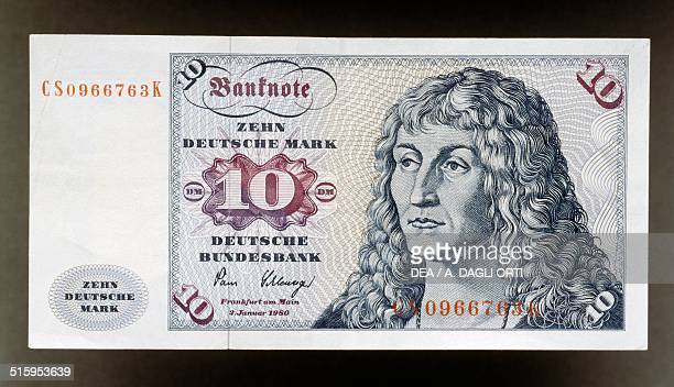 10 mark banknote 19701980 obverse Beardless clean shaven Young Man by Lucas Cranach the Elder Germany 20th century