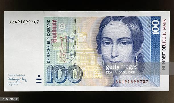 100 mark banknote obverse Clara Schumann Germany 20th century