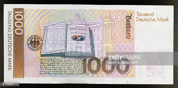 1000 mark banknote reverse book Germany 20th century