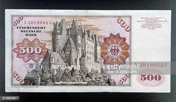 500 mark banknote reverse Eltz Castle Germany 20th century