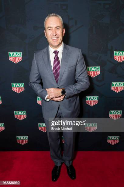 Mark Baretta attends the TAG Heuer 'Museum In Motion' Australian Launch at Museum of Contemporary Art on June 6 2018 in Sydney Australia