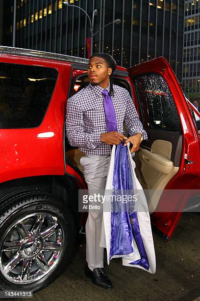 Mark Barron from Alabama arrives on the red carpet during the 2012 NFL Draft at Radio City Music Hall on April 26 2012 in New York City