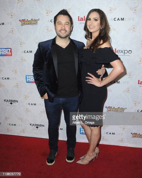 Mark Bauman and Cammie Bauman arrive for the premiere of Gravitas Ventures' 'A Cam Life' held at Regal Cinemas LA Live on April 19 2019 in Los...