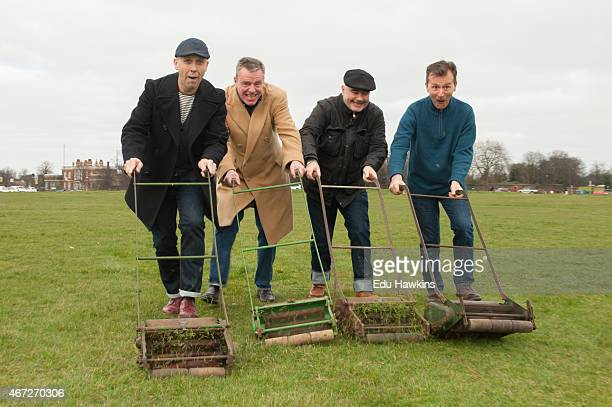 Mark Bedford Graham McPherson Chris Foreman and Daniel Woodgate of Madness get the heath ready ahead of their headline gig at OnBlackheath festival...