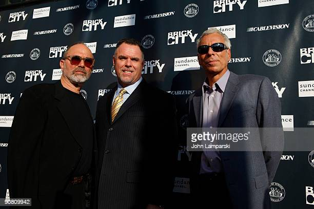 Mark Benjamin and Garry McCarthy and Mark Levin attend Sundance Channel's Brick City screening at the Newark Symphony Hall on September 15 2009 in...