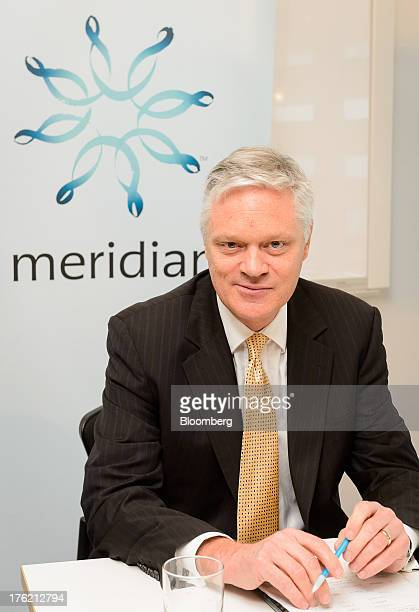 Mark Binns chief executive officer of Meridian Energy Ltd sits for a photograph during a news conference in Wellington New Zealand on Monday Aug 12...