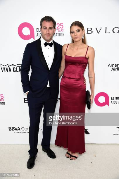 Mark Birnbaum and Tori Praver attend the 26th annual Elton John AIDS Foundation Academy Awards Viewing Party sponsored by Bulgari celebrating EJAF...