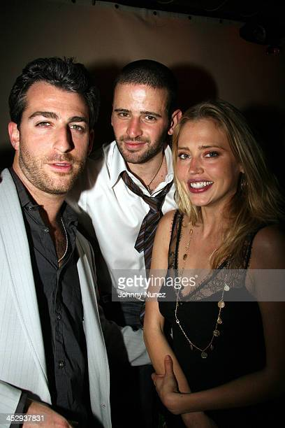 Mark Birnbaum Eugene Remm and Estella Warren during Bunny Chow 1st Anniversary at Cain in New York City April 12 2006 at Cain in New York City New...
