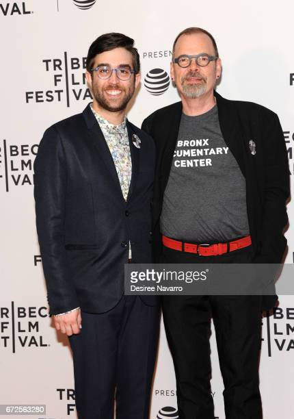 Mark Blane and Director David France attend 2017 Tribeca Film Festival 'The Death And Life Of Marsha P Johnson' at Cinepolis Chelsea on April 21 2017...