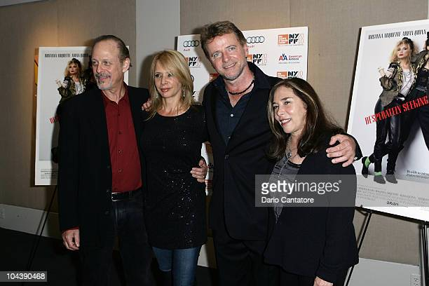Mark Blum Rosanna Arquette Aidan Quin and director Susan Seidelman attend the Desperately Seeking Susan 25th anniversary screening at Furman Gallery...