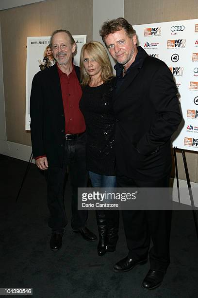 Mark Blum Rosanna Arquette and Aidan Quinn attend the Desperately Seeking Susan 25th anniversary screening at Furman Gallery on September 23 2010 in...