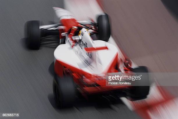 Mark Blundell of Great Britain at speed as he drives the Marlboro McLaren Mercedes McLaren MP4-10 Mercedes V10 during the Grand Prix of Monaco on 28...
