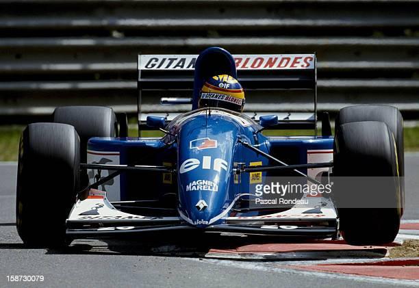 Mark Blundell of Great Britain drives the Ligier Gitanes Blondes Ligier JS39 Renault V10 during the Belgian Grand Prix on 29th August 1993 at the...