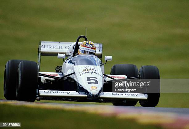 Mark Blundell of Great Britain drives the Lola Motorsport Lola T88/50 - Mader Cosworth during practice for the FIA International F3000 Championship...