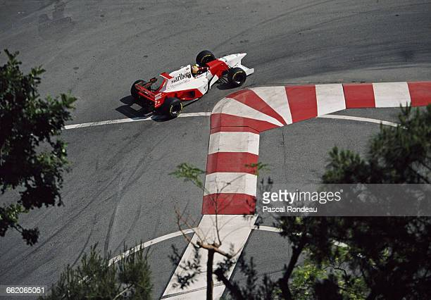 Mark Blundell of Great Britain drives the Marlboro McLaren Mercedes McLaren MP4-10 Mercedes V10 during the Grand Prix of Monaco on 28 May 1995 on the...