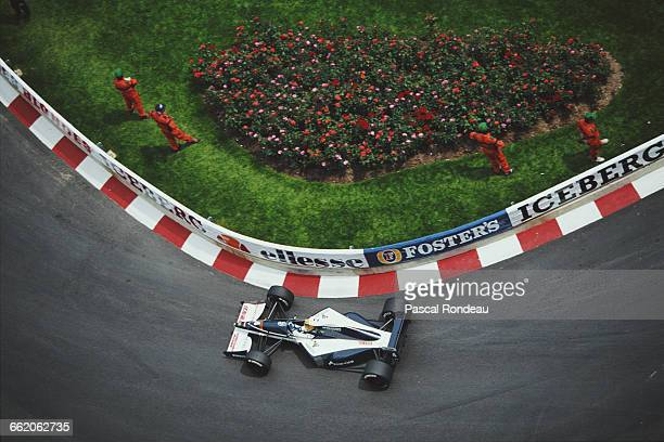 Mark Blundell of Great Britain drives the Motor Racing Developments Ltd Brabham BT60Y Yamaha V12 during the Grand Prix of Monaco on 12 May 1991 on...